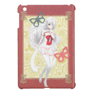 Anime Spirit Girl - Pink and Gold Trimmed Case For The iPad Mini