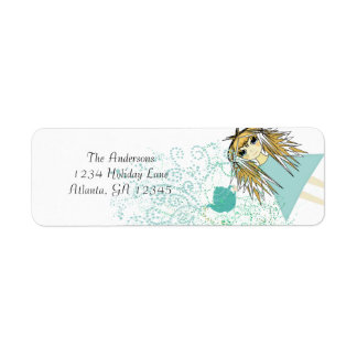 Anime Tea Party Invitation Return Address Return Address Label