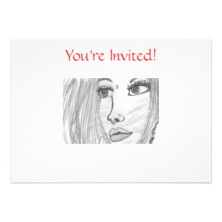 Anime Warrior Princess- Party Invitations