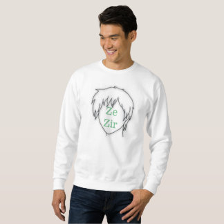 Anime Ze Zir pronoun sweatshirt