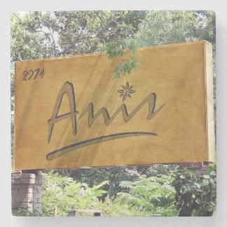 Anis,Buckhead, Atlanta Marble Stone Coaster. Stone Beverage Coaster