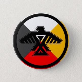 Anishinaabe Thunderbird in the Four Directions 6 Cm Round Badge