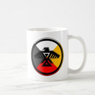 Anishinaabe Thunderbird in the Four Directions Basic White Mug