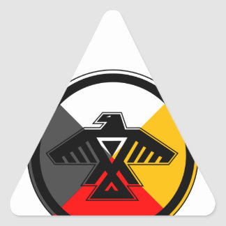 Anishinaabe Thunderbird in the Four Directions Triangle Sticker