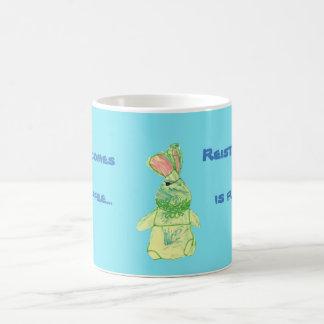Anita Bunny Coffee Blue Morphing Mug