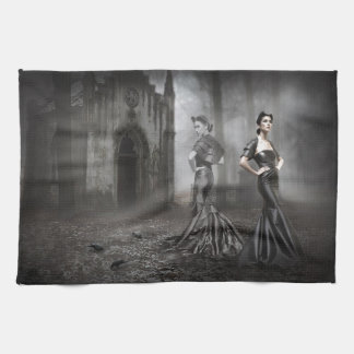 Anixias Ghost of twin sister Tea Towel