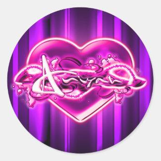 Aniyah Round Stickers