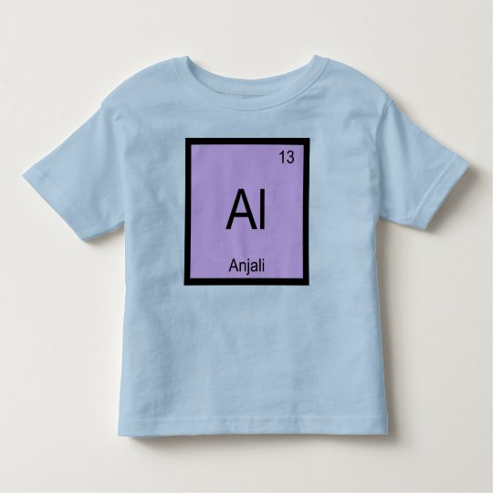 Anjali Name Chemistry Element Periodic Table Toddler T-Shirt