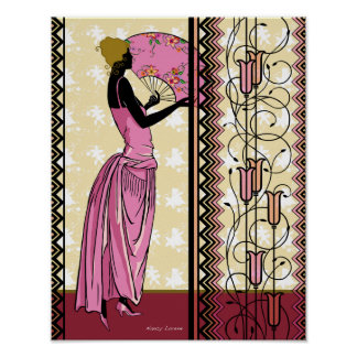 Anjanette in Pink and Gold Poster