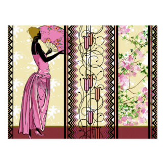 Anjanette in Pink & Gold - Postcards