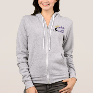 Anjellicle Cats Rescue Logo Zip Hoodie