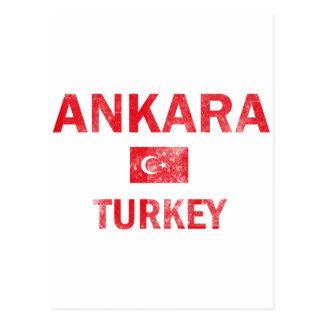 Ankara Turkey Designs Postcard