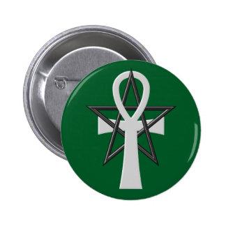 Ankh 6 Cm Round Badge