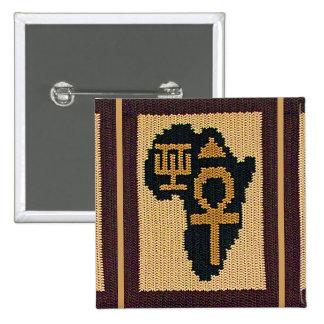 Ankh Africa Adinkra Symbol Crochet Square Broach 15 Cm Square Badge