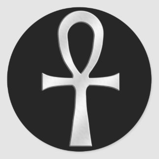 Ankh Silver Stickers
