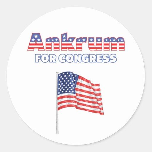 Ankrum for Congress Patriotic American Flag Sticker