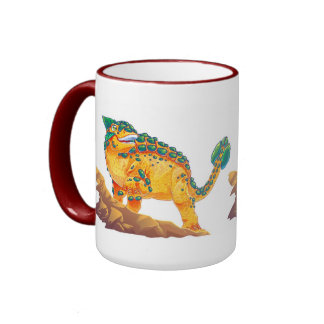 Ankylosaurus 2 ringer coffee mug