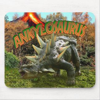 Ankylosaurus Dinosaur Park Vegetation and  Volcano Mouse Pad