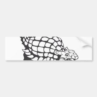 Ankylosaurus Dinosaur Prehistoric Black and White Car Bumper Sticker