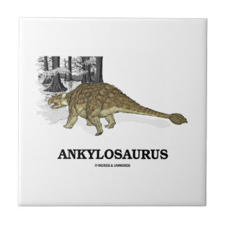 Ankylosaurus (Fused Lizard Dinosaur) Small Square Tile