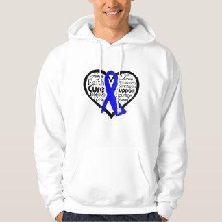 Ankylosing Spondylitis Heart Ribbon Collage Sweatshirts