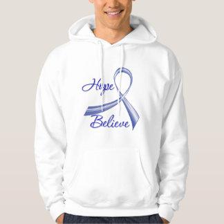 Ankylosing Spondylitis - Hope Believe Hooded Sweatshirt
