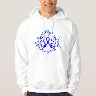 Ankylosing Spondylitis Hope Motto Butterfly Hooded Sweatshirts