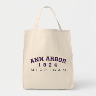 Ann Arbor, MI - 1824 Grocery Tote Bag