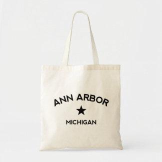 Ann Arbor Michigan Budget Tote Bag