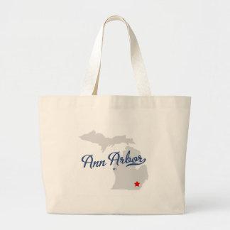 Ann Arbor Michigan MI Shirt Tote Bags