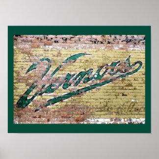 Ann Arbor Michigan Vernors Wall Vintage Retro Poster
