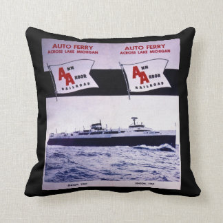 Ann Arbor Railroad Auto Ferry Lake Michigan Cushion
