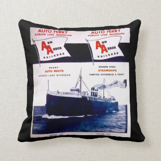 Ann Arbor Railroad Auto Ferry Lake Michigan Route Cushion