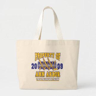 Ann Arbor Triathlon Canvas Bags