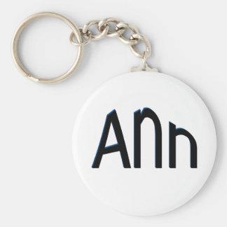 Ann Basic Round Button Key Ring