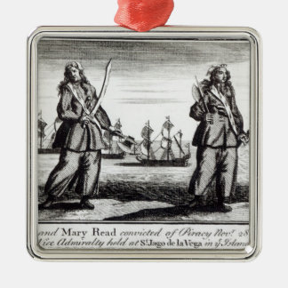Ann Bonny and Mary Silver-Colored Square Decoration