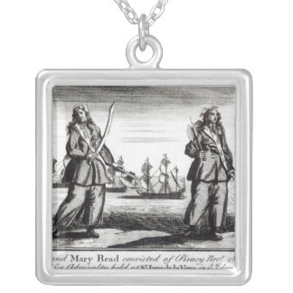 Ann Bonny and Mary Silver Plated Necklace