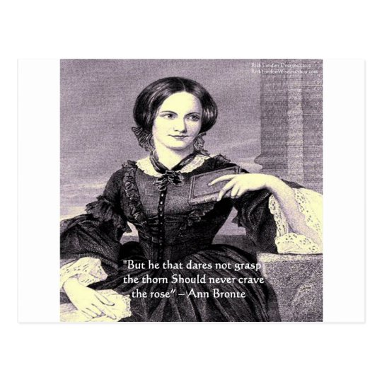 """Ann Bronte """"Rose Thorn"""" Wisdom Quote Gifts &"""