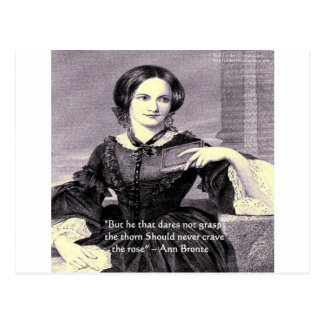 "Ann Bronte ""Rose Thorn"" Wisdom Quote Gifts & Cards Postcard"