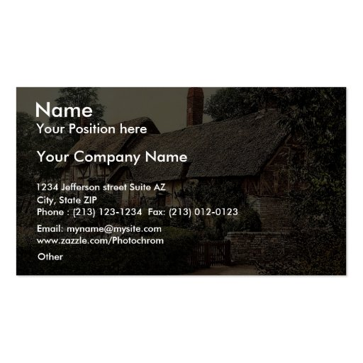 Ann Hathaway's Cottage, Stratford-on-Avon, England Business Cards