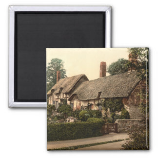 Ann Hathaway's Cottage, Stratford-on-Avon, England Square Magnet