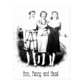 Ann-Penny-Hazel Postcard