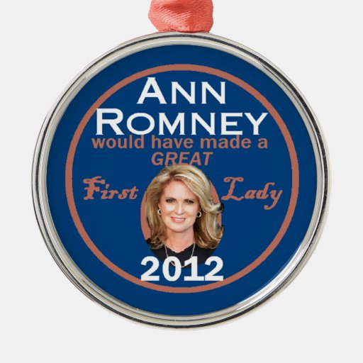 Ann Romney First Lady Christmas Tree Ornaments