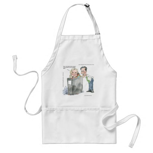 Ann Romney In A Binder Funny Gifts Tees & Cards Apron