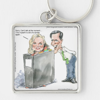 Ann Romney In A Binder Funny Gifts Tees & Cards Key Chain