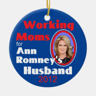 ANN ROMNEY ROUND CERAMIC DECORATION