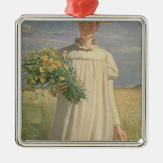 Anna Ancher returning from Flower Picking, 1902 Christmas Ornament