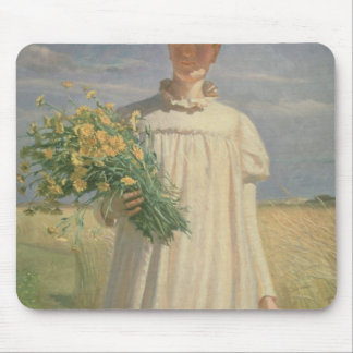 Anna Ancher returning from Flower Picking, 1902 Mouse Mat