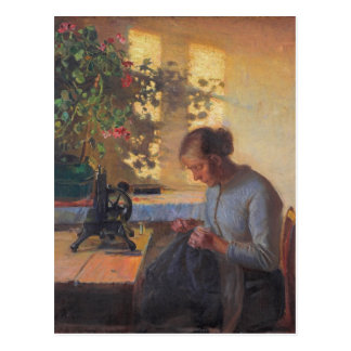 Anna Ancher's Sewing Fisherman's Wife Postcard