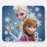 Anna and Elsa with Snowflakes Mousepad